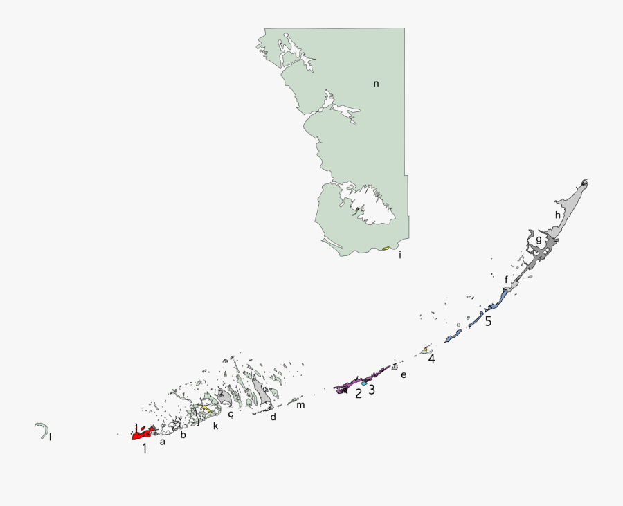 Collection Of Free Florida Vector Map - Monroe County Florida, Transparent Clipart