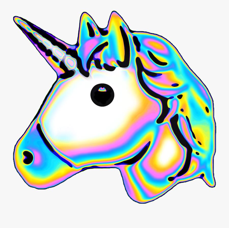 #unicorn #emoji #holographic - Illustration, Transparent Clipart
