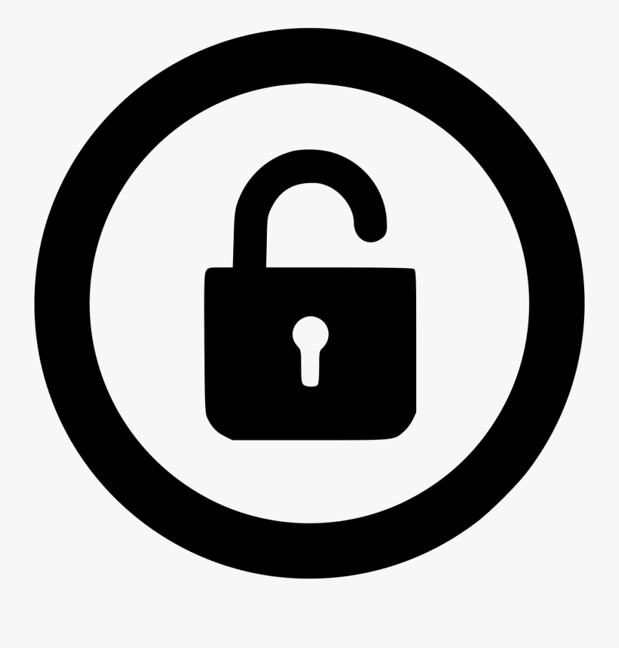 Lock Unlocked - 2 Number In Circle, Transparent Clipart