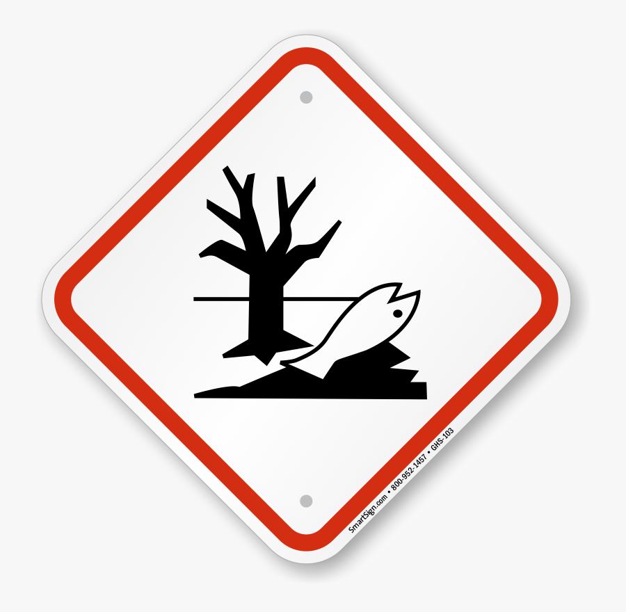Global Harmonized System Dangerous For Environment - Dangerous For The Environment Pictogram, Transparent Clipart