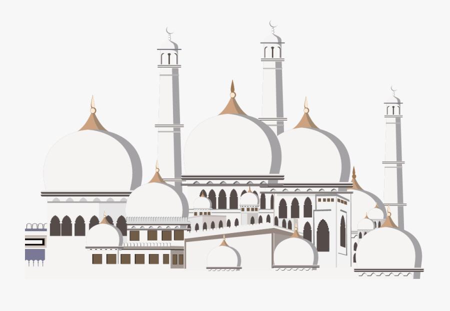 Kaaba Ramadan Mosque Islam Eid Mubarak - Vector Eid Mubarak Png, Transparent Clipart