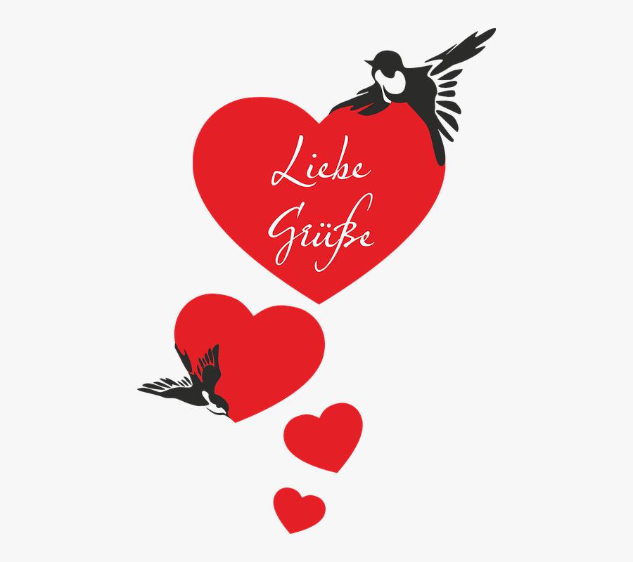 Transparent Swallows Clipart - Love Bird Heart Image Download, Transparent Clipart