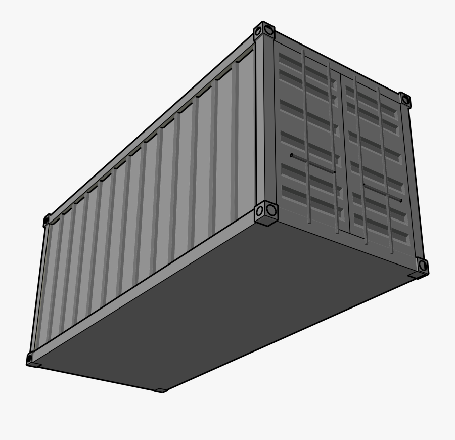 Shipping Container Clip Art - Shipping Container Clipart, Transparent Clipart