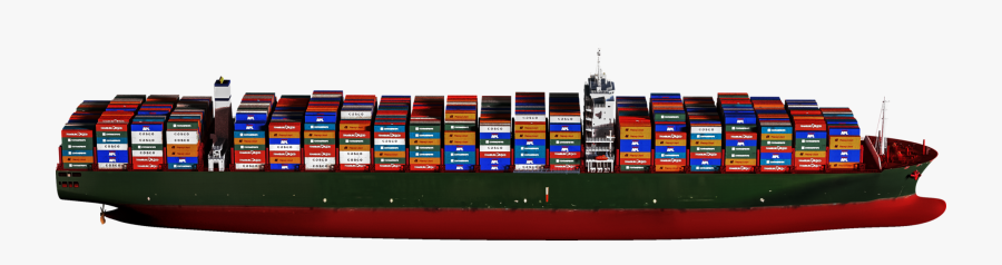 Container Ship Png - Container Ship Profile View, Transparent Clipart