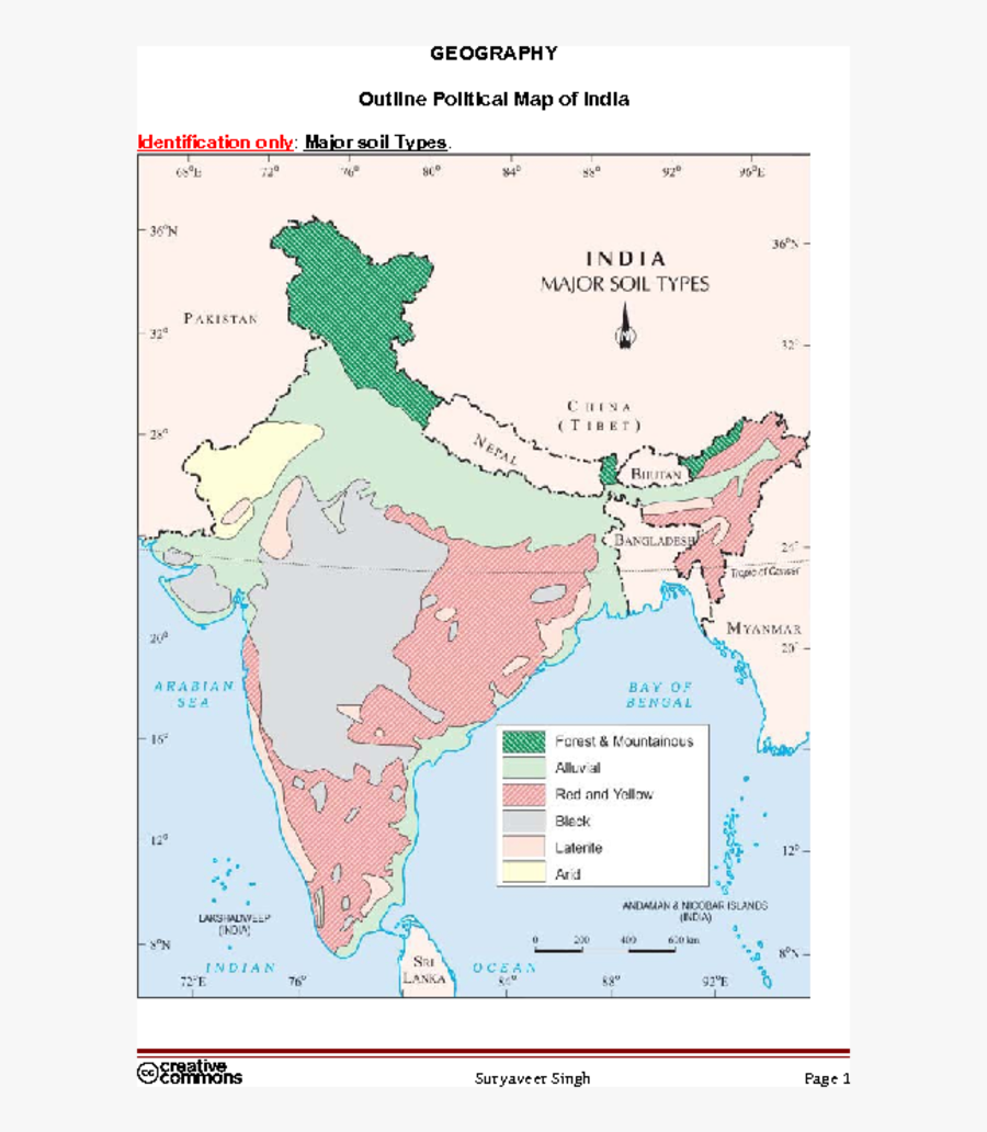 Map Clipart Map Indian - India Major Soil Types, Transparent Clipart