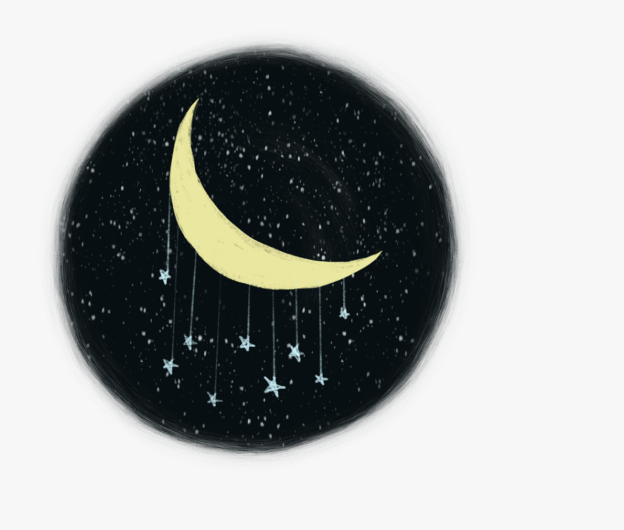 Moon In The Night Sky , Png Download - Crescent, Transparent Clipart