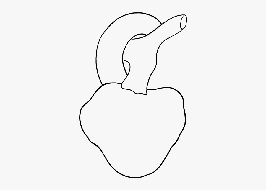 How To Draw Human Heart - Simple Real Heart Drawing, Transparent Clipart
