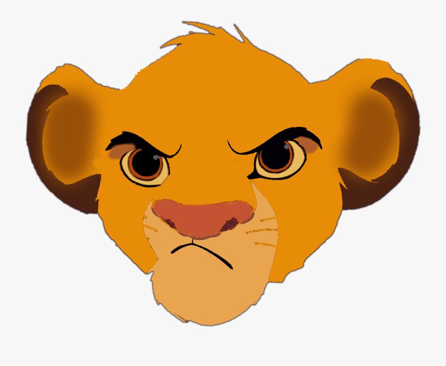 Lion King Simba Face, Transparent Clipart