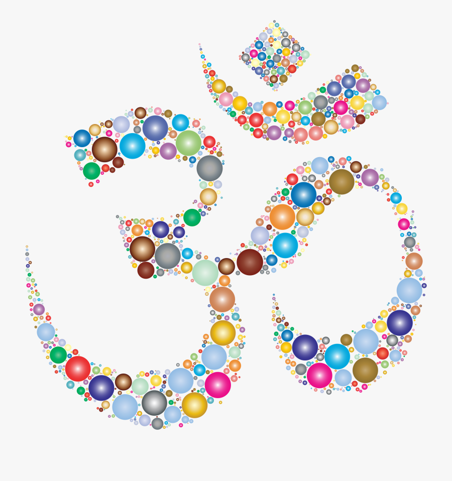 Buntes Om-symbol Kissen - Hinduism Symbol Png, Transparent Clipart