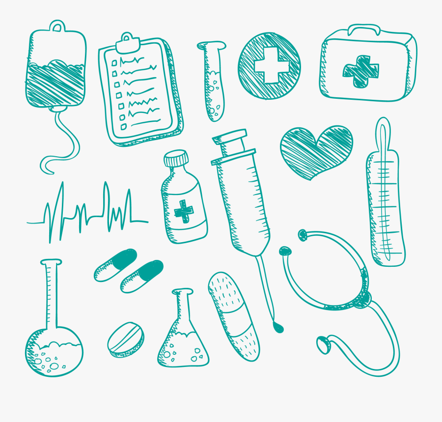 Medicine Nursing Drawing Doodle - Medical Things To Draw, Transparent Clipart