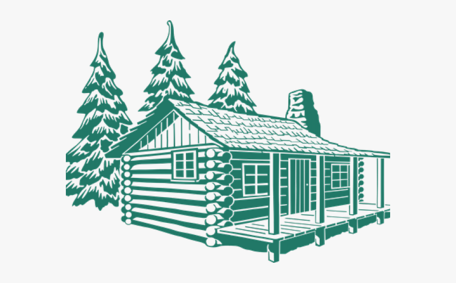 Wood Clipart Mountain Vacation - Log Cabin Drawing, Transparent Clipart