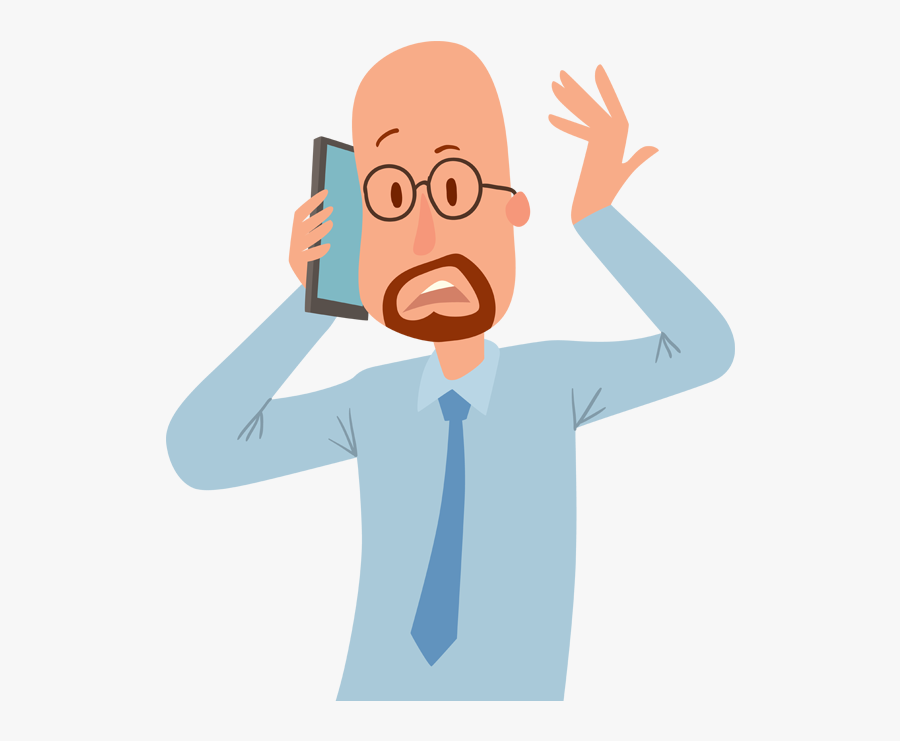 People Talking With Phone Vector Clipart , Png Download - Talking On Phone Vector, Transparent Clipart