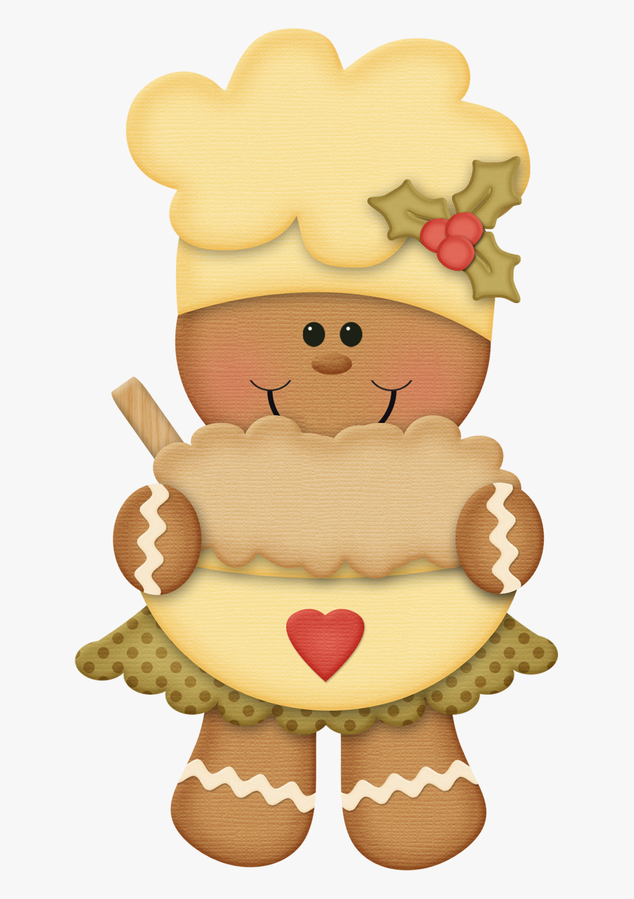 Clipart Cute Gingerbread, Transparent Clipart