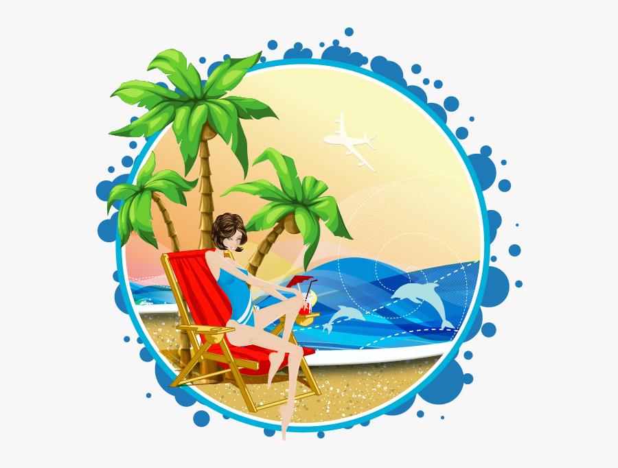 Euclidean Vector Arecaceae Beach Illustration - Palm Tree Vector, Transparent Clipart