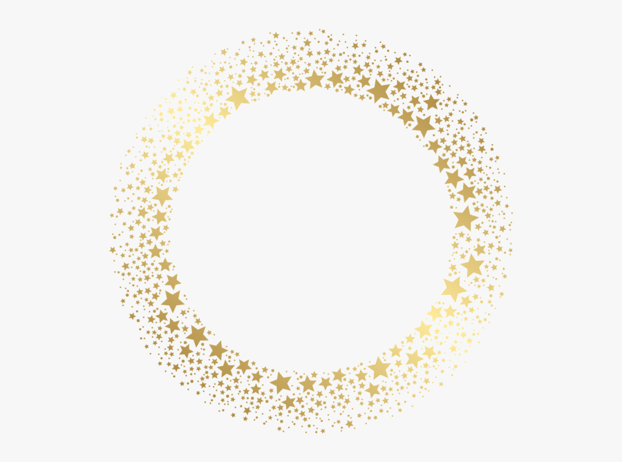 #frame #border #wreath #circle #round #stars #twinkle - Gold Stars Border Png, Transparent Clipart