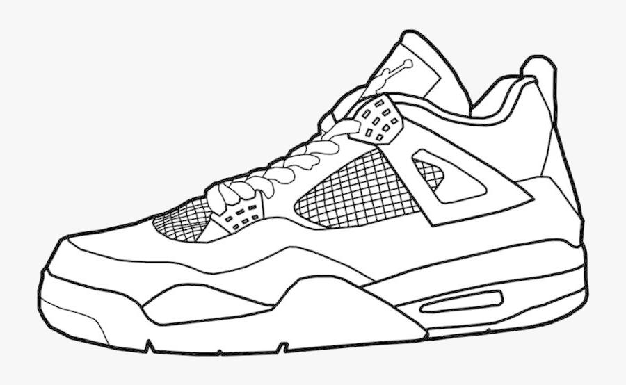 - Jordan Air Jordans Coloring Pages Unique Collection - Drawing Of Shoes ,  Free Transparent Clipart - ClipartKey