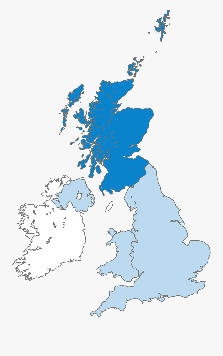 Uk Map - Map Of United Kingdom Vector, Transparent Clipart