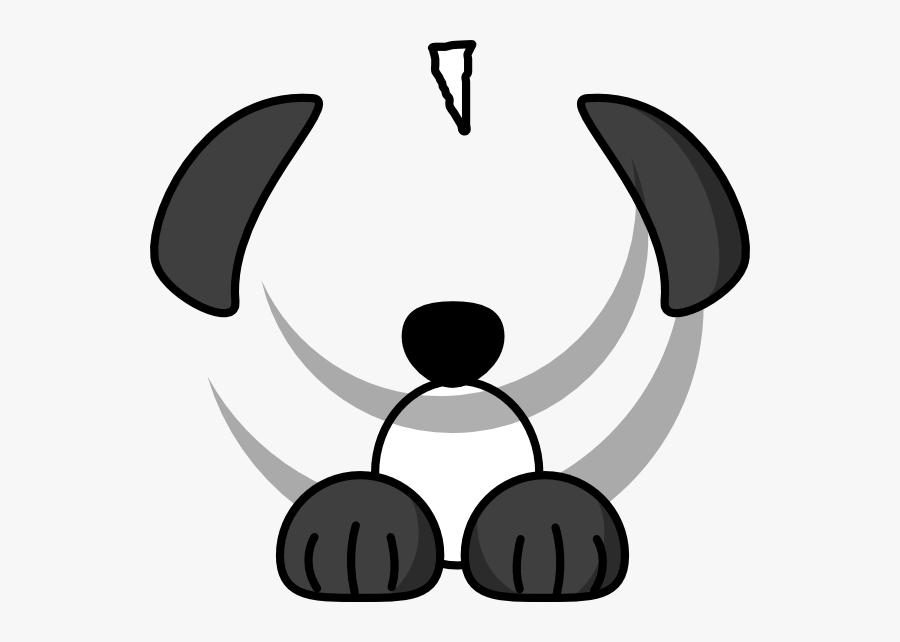 Sheep Dog Clip Art At Clker - White And Black Dog Brown Ear, Transparent Clipart