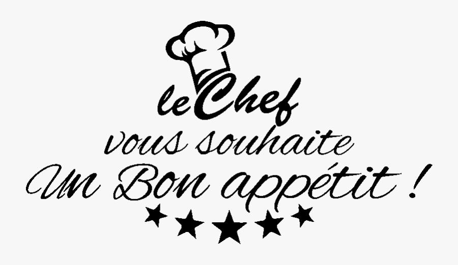 Le Chef Vous Souhaite Un Bon Appétit, Transparent Clipart