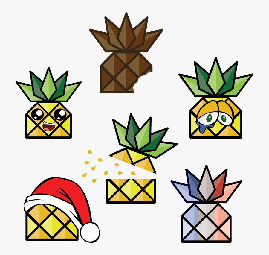 Pineapple Clipart Character, Transparent Clipart