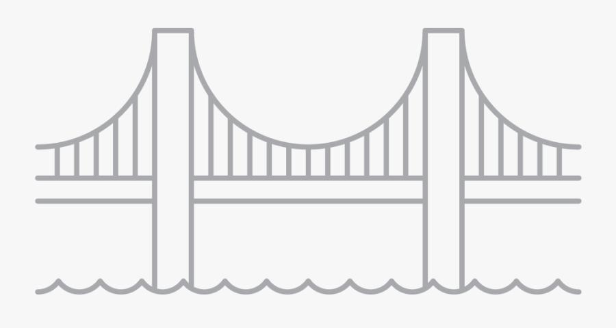 Clip Art Brooklyn Bridge Vector Graphics Golden Gate - Line Art Golden Gate Bridge Png, Transparent Clipart