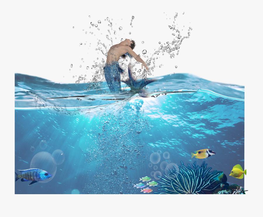 Transparent Wakeboarding Clipart - Underwater, Transparent Clipart