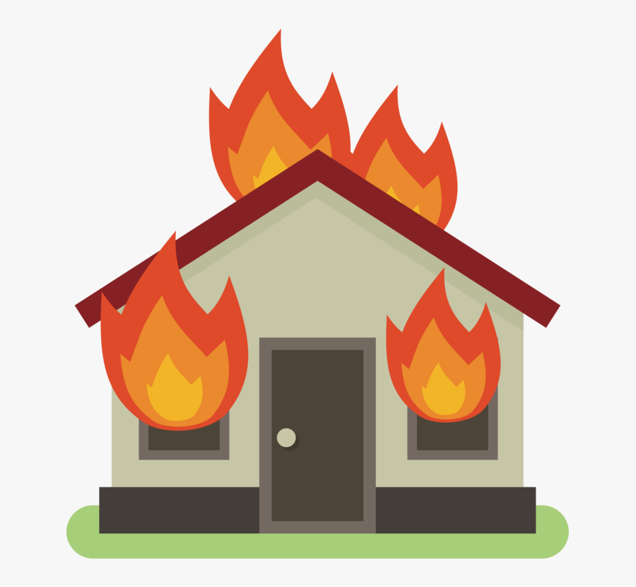 Art,house,roof - Burning House On Fire Clipart, Transparent Clipart