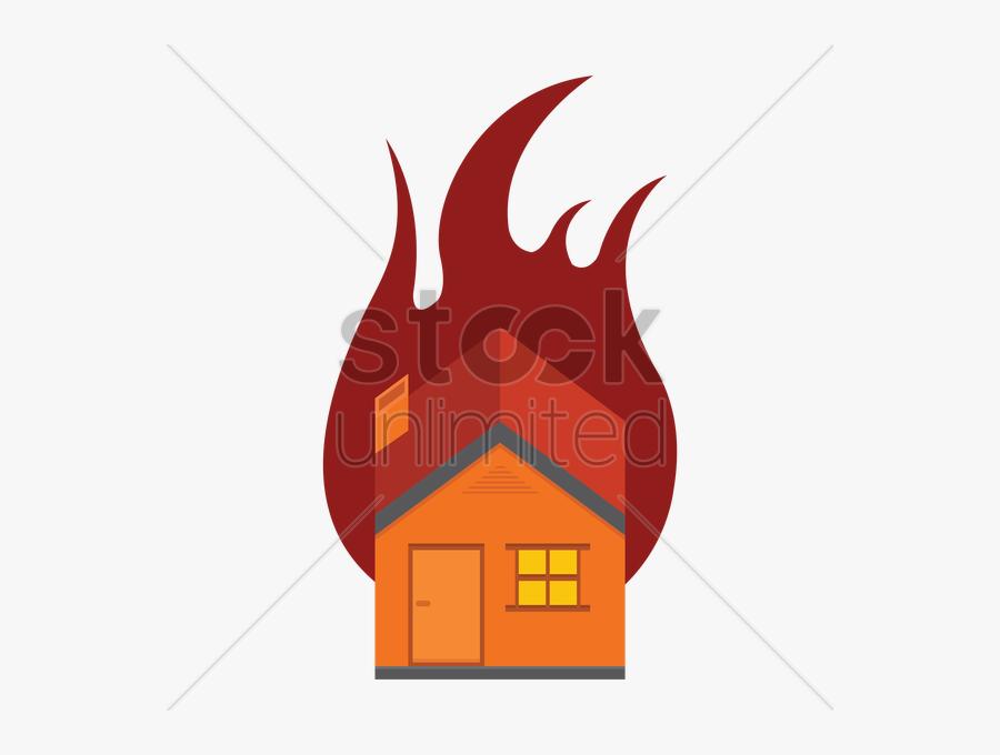 Transparent Burning House Png - Illustration, Transparent Clipart
