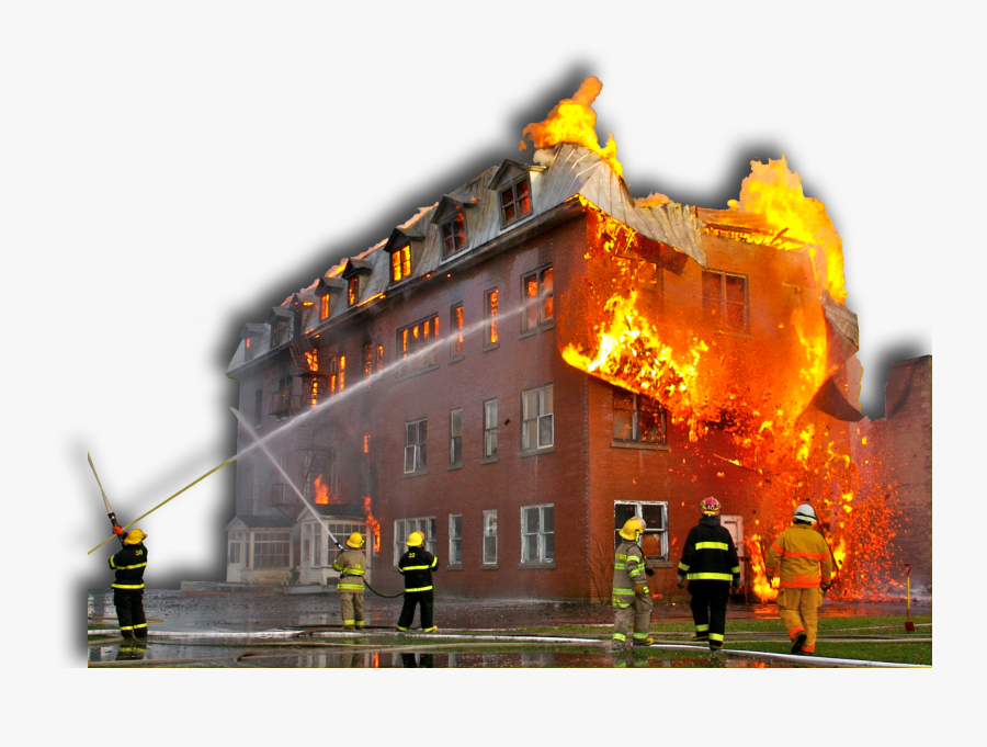 Building On Fire Png - Fire Building Png, Transparent Clipart