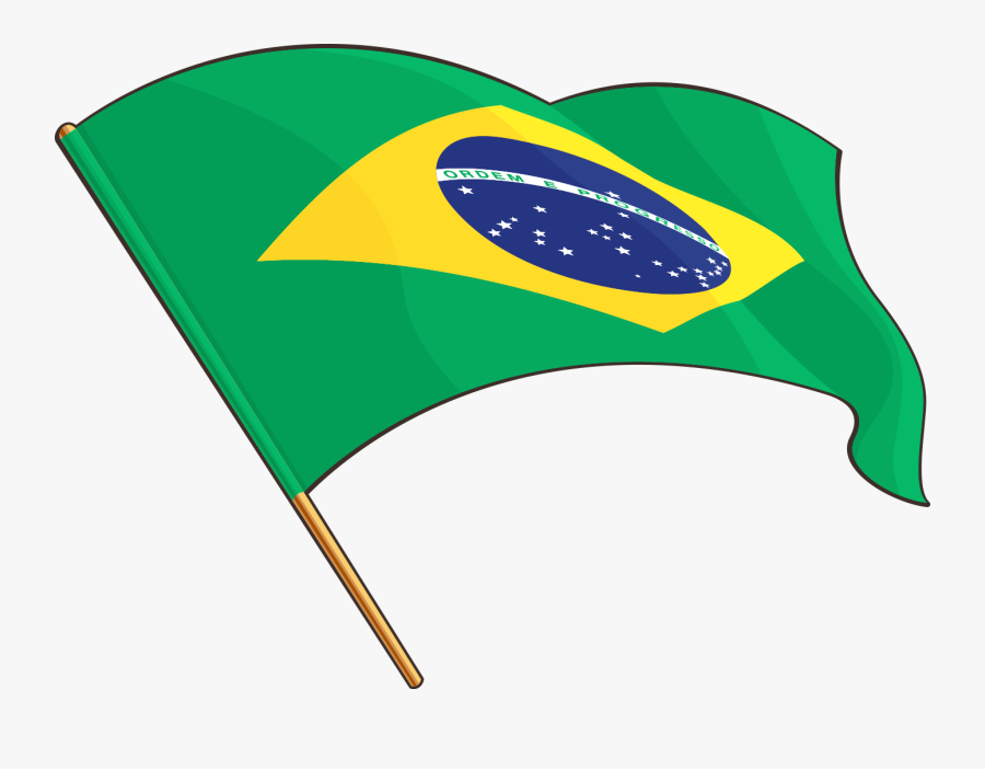 1378 X 1015 4 - Brazil Flag Drawing, Transparent Clipart