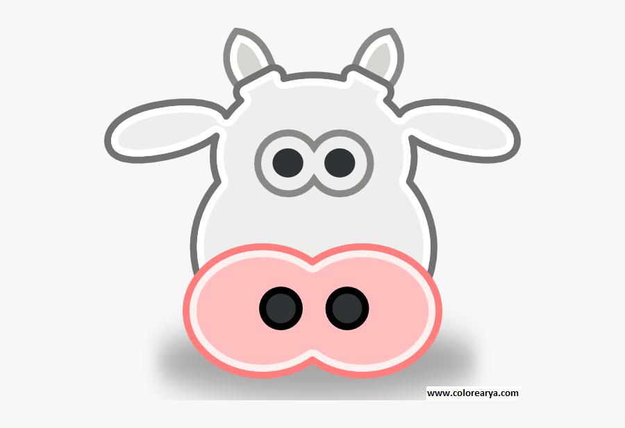 Clip Art Head Of Animals - Cow Face Clipart, Transparent Clipart