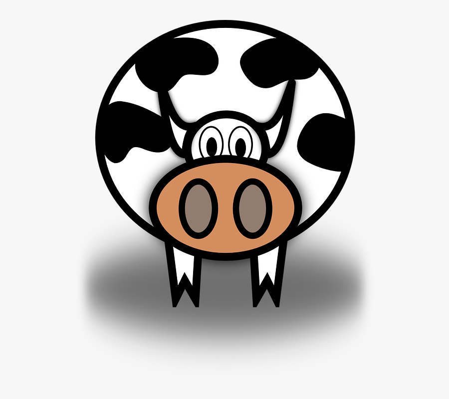 Simple, Cartoon, Barn, Farm, Cow, Milk, Dairy, Animal - Prices Of Related Goods Produced Supply, Transparent Clipart
