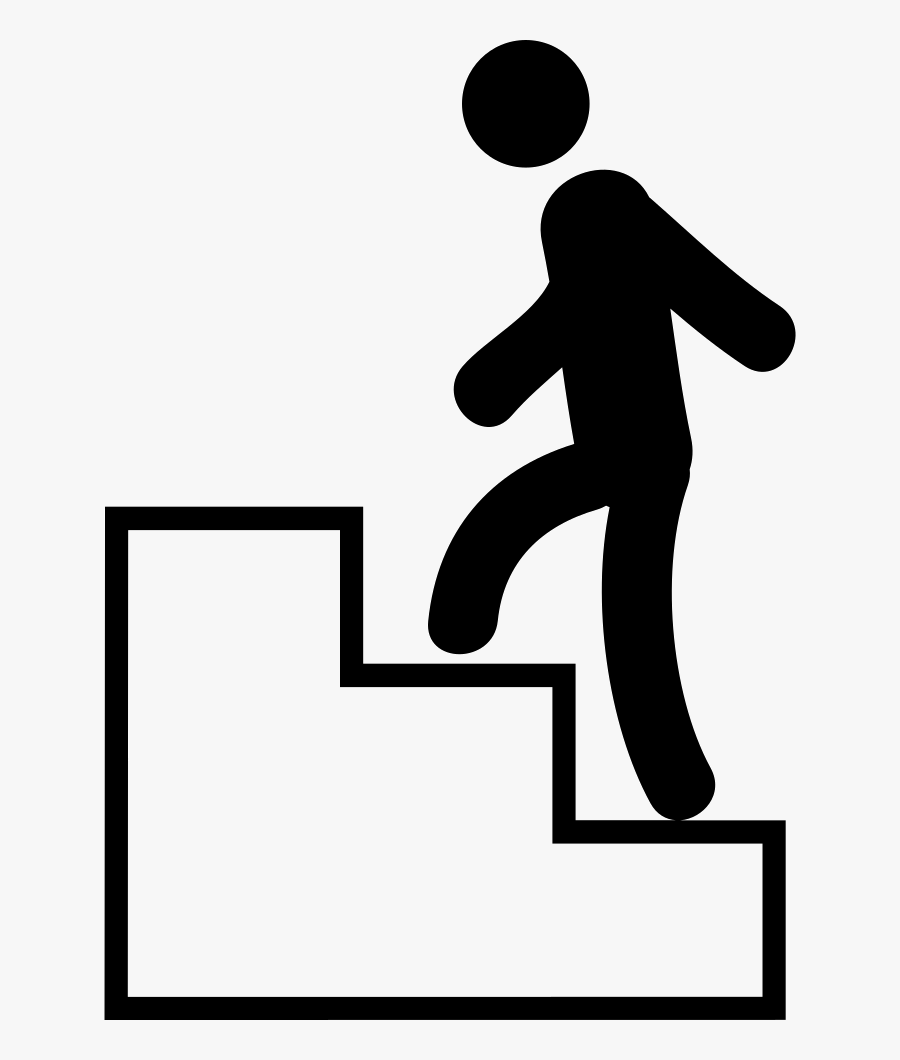 Climb Stair Frames Illustrations - Man Climbing Stairs Icon, Transparent Clipart