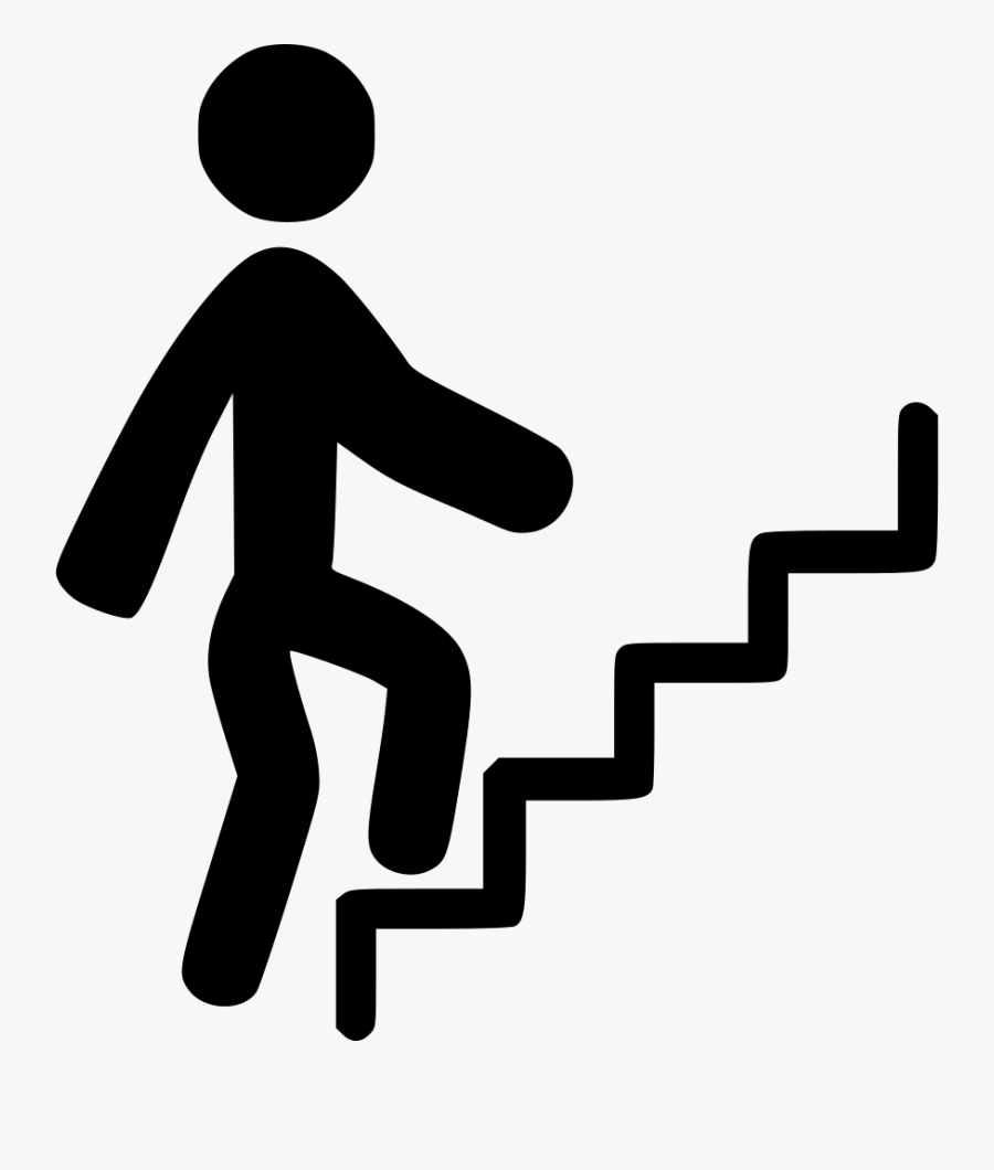 People Climbing Stairs Png - Climbing Stairs Icon Png, Transparent Clipart