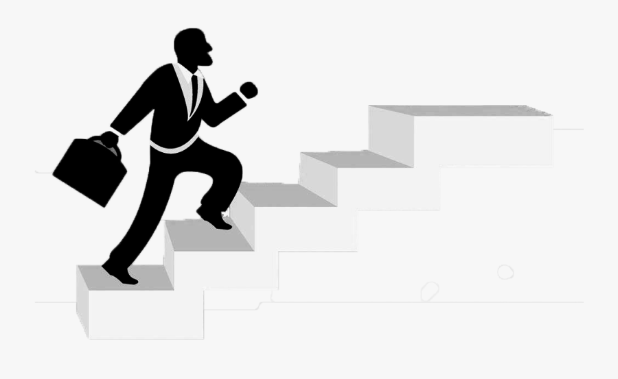 Business People Climb The Floor Png Download - Climbing Staircase Png, Transparent Clipart