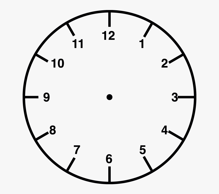 Clock Face Stamp Blank Analogue And Digital Clock- - Blank Clock Face Transparent, Transparent Clipart