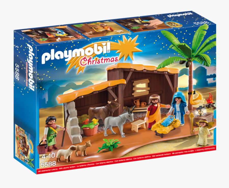 Playmobil Christmas Nativity Stable With Manger - Playmobil Portal De Belén, Transparent Clipart