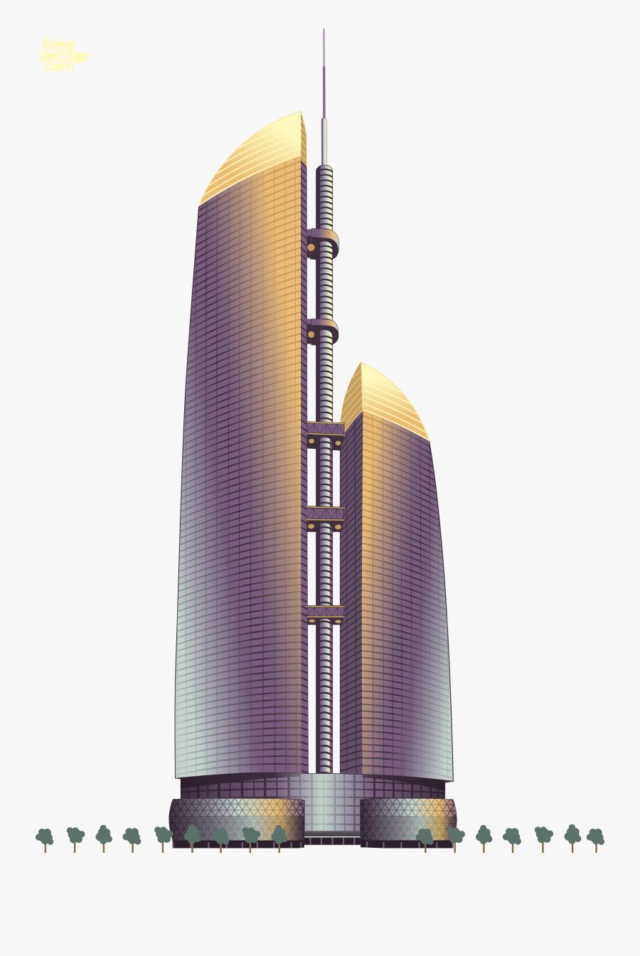 Building Landmark Landmarks Vector Euclidean Free Transparent - Skyscraper, Transparent Clipart