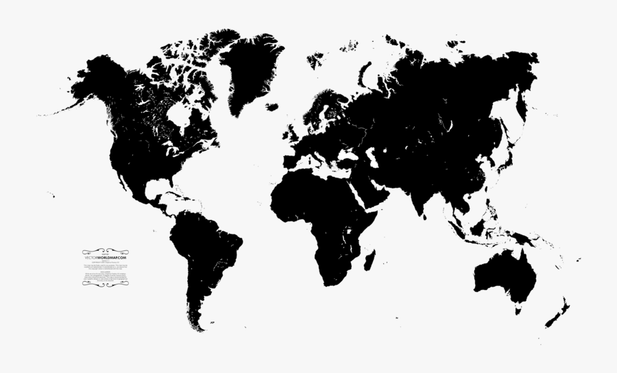 World Map File - Transparent Background World Map Png White, Transparent Clipart