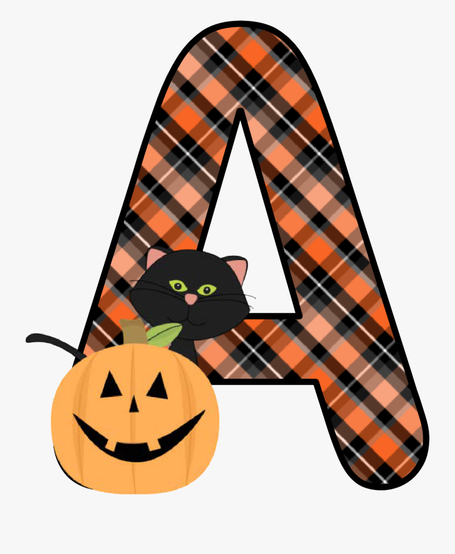 Ch B *✿* Alfabeto Calabaza De Kid Sparkz - Free Printable Halloween Alphabet Letters, Transparent Clipart