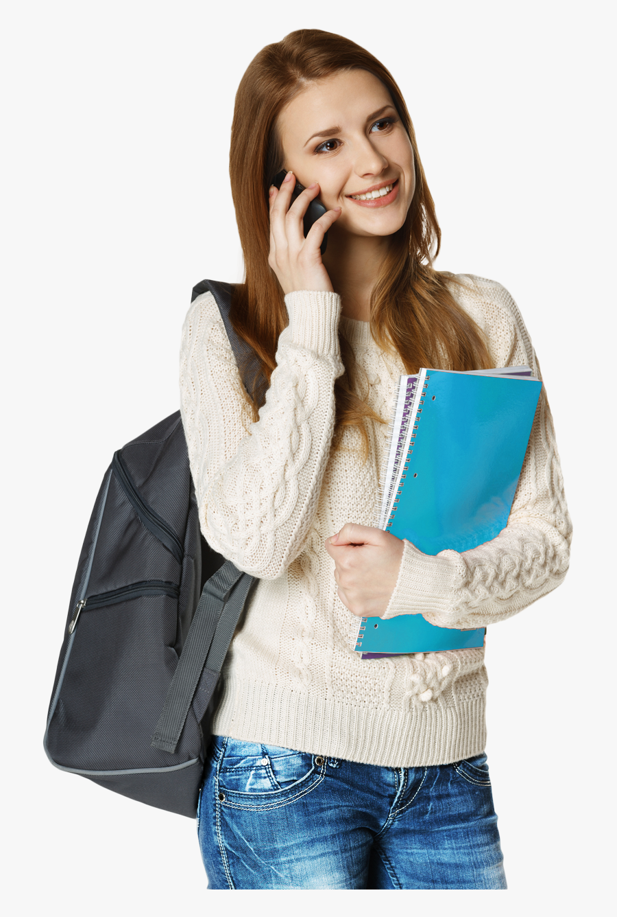 Female Student Png Image, Transparent Clipart