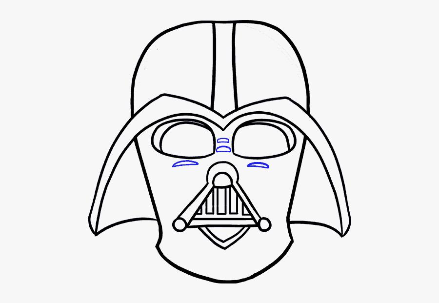 How To Draw Dart Vader - Easy Cartoon Darth Vader, Transparent Clipart