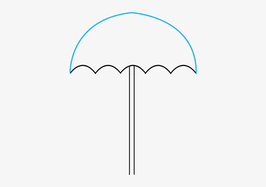 How To Draw Umbrella - Umbrella How To Draw, Transparent Clipart
