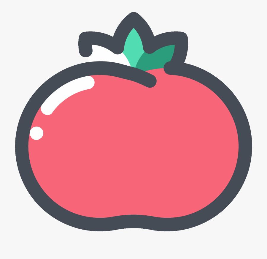Red Tomato Icon - Tomato Icon Png, Transparent Clipart