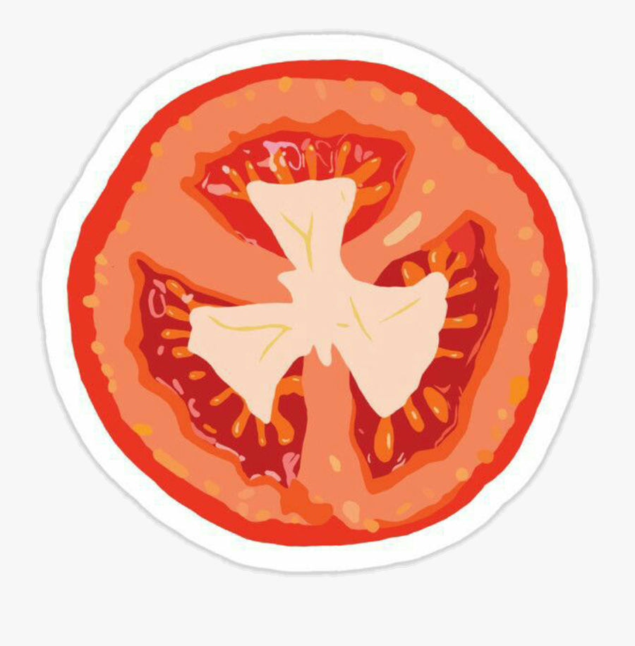 Tomato Sticker Clipart , Png Download - Rodaja De Tomate Dibujo, Transparent Clipart