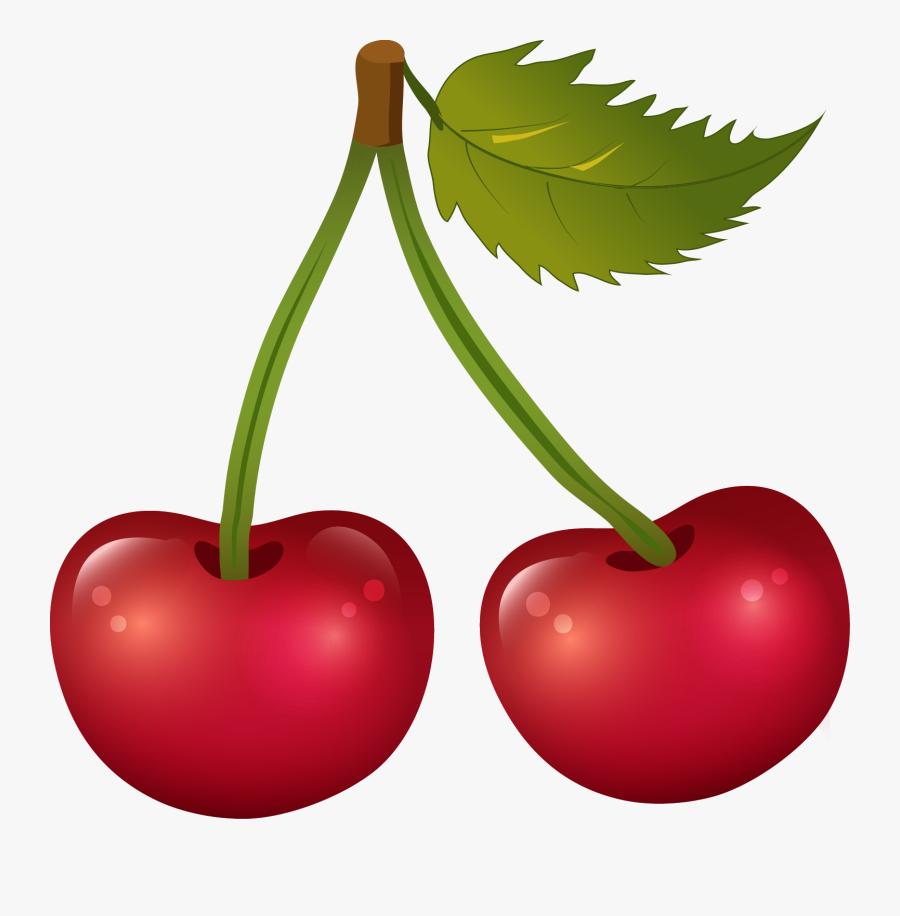 Clipart Leaf Cherry - Transparent Background Cherry Clipart, Transparent Clipart