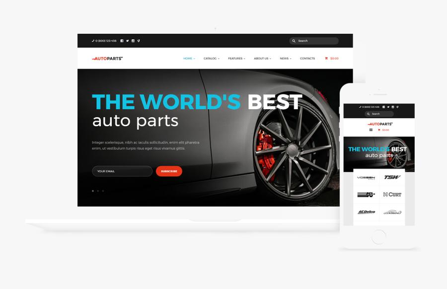 Clip Art Automotive Wordpress Themes - Car Parts Store & Auto Services Wordpress Theme, Transparent Clipart