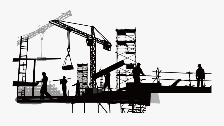 Vector Building Construction Competencies And Building - Building Construction Clipart Png, Transparent Clipart