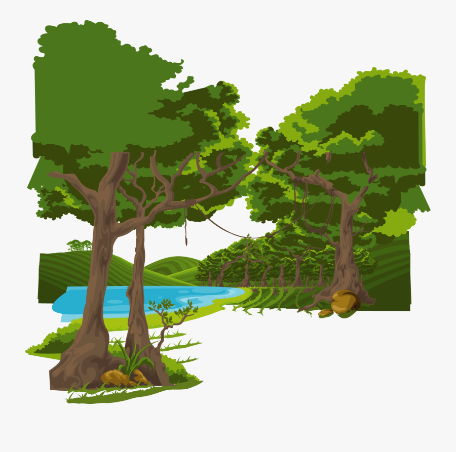 Cartoon Graphic Design Illustration - Forest Cartoon, Transparent Clipart