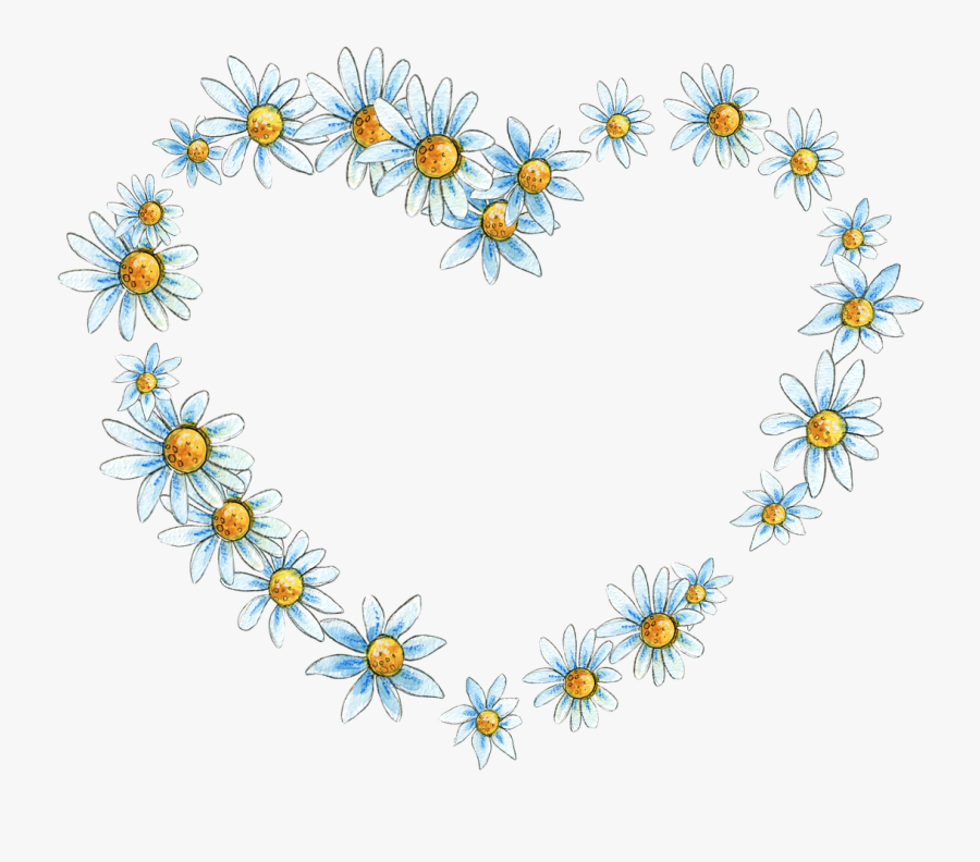 Floral Flower Frame Free Picture - Flower Heart Png, Transparent Clipart